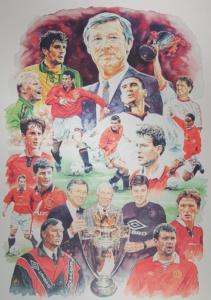 Manchester Unitedin taideteos Helsinki Red Room museolla